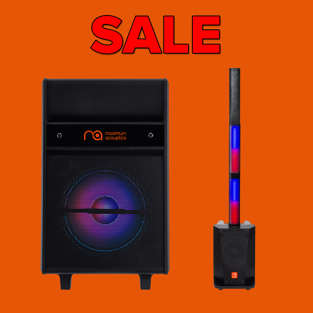 Sale! Buy the best models of Maximum Acoustics PA systems at special prices!